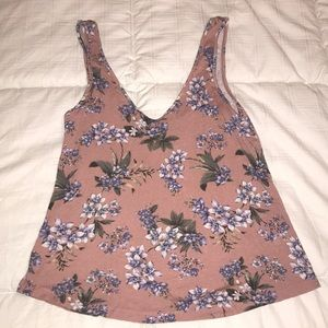 Pink Floral Soft and Sexy Crepe Tank Size XS